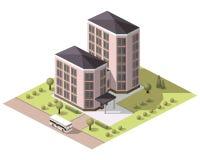 Fije los edificios de las tejas Foto de archivo libre de regalías