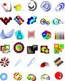 Fije los elementos de la insignia del vector   Foto de archivo libre de regalías