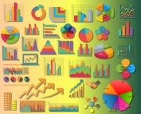 Fije los elementos del ejemplo de la información graphics Foto de archivo libre de regalías