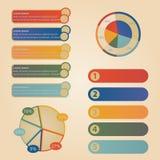 Fije los elementos del gráfico de la información Imagen de archivo libre de regalías