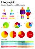 Fije los elementos del infographics. Imagen de archivo