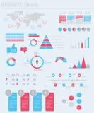 Fije los elementos del infographics Fotografía de archivo libre de regalías