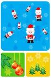Fije los elementos para el diseño de la Navidad ilustración del vector