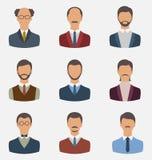 Fije a los hombres de negocios, retrato delantero de los varones aislados en b blanco ilustración del vector