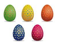 Fije los huevos de Pascua Modelo de estrella en los huevos de Pascua stock de ilustración