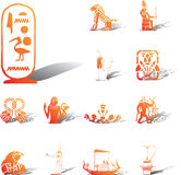 Fije los iconos - 117A. Egipto stock de ilustración