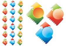 Fije los iconos Fotografía de archivo