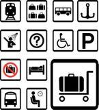 Fije los iconos 84B. Transporte los iconos Fotografía de archivo