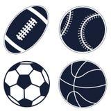 Fije los iconos de la bola Foto de archivo