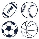 Fije los iconos de la bola Fotos de archivo libres de regalías