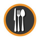 Fije los iconos de las herramientas de los cubiertos Imagen de archivo libre de regalías