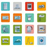 Fije los iconos de los aparatos electrodomésticos Foto de archivo libre de regalías
