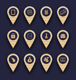 Fije los iconos del infographics del negocio para la disposición del sitio web del diseño libre illustration