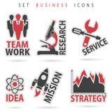 Fije los iconos del negocio Foto de archivo libre de regalías