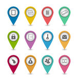 Fije los iconos del pictograma del negocio para el diseño su sitio web stock de ilustración