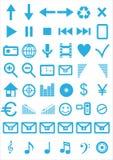 Fije los iconos del vector Fotos de archivo
