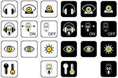 Fije los iconos del vector para el Web site y el diseño web Fotografía de archivo