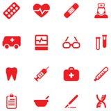 Fije los iconos del vector para médico y la salud Fotografía de archivo