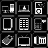 Fije los iconos - ordenador, Web, Internet, tecnología Fotografía de archivo