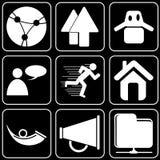 Fije los iconos - ordenador, Web, Internet, tecnología Fotos de archivo