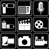 Fije los iconos - ordenador, Web, Internet, tecnología Imagen de archivo
