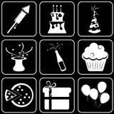 Fije los iconos - ordenador, Web, Internet, tecnología Imagenes de archivo