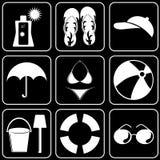 Fije los iconos - ordenador, Web, Internet, tecnología Imagen de archivo libre de regalías