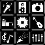 Fije los iconos - ordenador, Web, Internet, tecnología Fotos de archivo libres de regalías