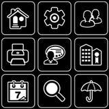 Fije los iconos - ordenador, Web, Internet, tecnología Imágenes de archivo libres de regalías