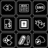 Fije los iconos - ordenador, Web, Internet, tecnología Fotografía de archivo libre de regalías