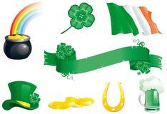 Fije los iconos para el día del St. Patrick Fotos de archivo
