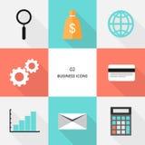 Fije 02 - los iconos planos del negocio del diseño stock de ilustración