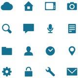 Fije los iconos y los botones del vector Imagenes de archivo