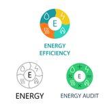 Fije los logotipos de la plantilla para las compañías de la energía Foto de archivo