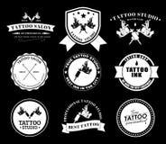 Fije los logotipos del tatuaje de diversos estilos Fotos de archivo