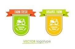 Fije los logotipos para Farm Company Imágenes de archivo libres de regalías