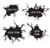 Fije los marcos del grunge con rascado, los elementos del vector Fotografía de archivo libre de regalías