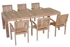Fije los muebles del jardín de la teca, sistema de los muebles del jardín Fotos de archivo