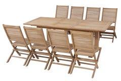 Fije los muebles del jardín de la teca, sistema de los muebles del jardín Imagen de archivo