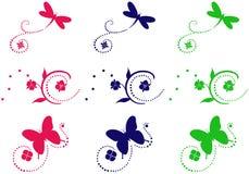 Fije los ornamentos ilustración del vector