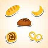 Fije los productos de la panadería Fotografía de archivo libre de regalías