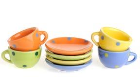 Fije los utensilios de cocina del color Foto de archivo libre de regalías