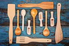 Fije los utensilios de la cocina Accesorios para cocinar Fotos de archivo libres de regalías
