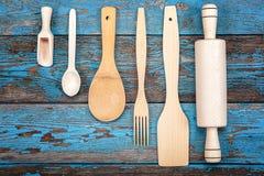 Fije los utensilios de la cocina Accesorios para cocinar Imagen de archivo libre de regalías