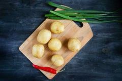 Fije para cocinar verduras de la cena Imagen de archivo