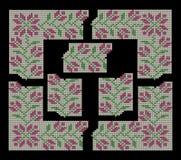 Fije para crear las fronteras y los marcos decorativos, estampado de flores Fotografía de archivo