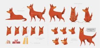 Fije para crear una animación del perro de emociones stock de ilustración