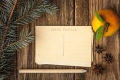 Fije para escribir tarjetas de Navidad Imágenes de archivo libres de regalías