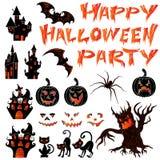 Fije para las postales del diseño en Halloween Fotos de archivo