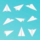 Fije un icono simple de los aviones del papel Foto de archivo